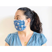 Load image into Gallery viewer, Blue Philadelphia Adult Face Mask