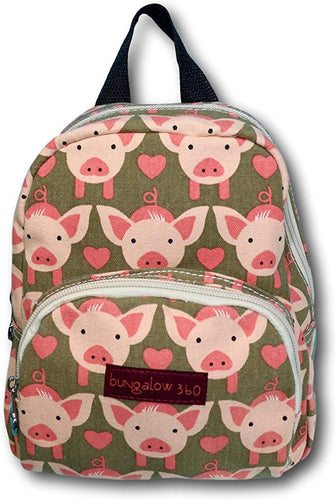 Pig Canvas Kids Backpack