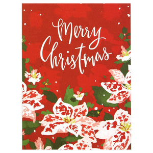 Merry Christmas Poinsettias Boxed Cards