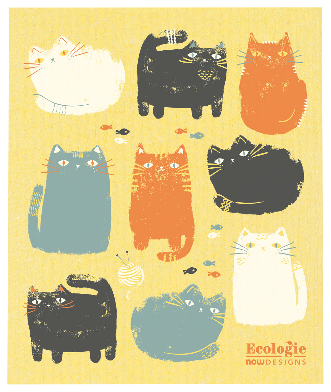 Purrfect Pals Swedish Dish Cloth
