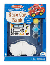Load image into Gallery viewer, Decorate Your Own Race Car Bank
