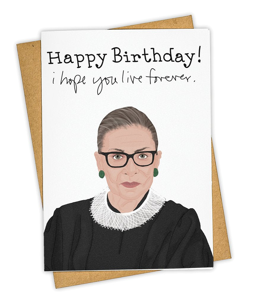 Happy Birthday I Hope You Live Forever Card