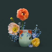 Load image into Gallery viewer, Mint Lively Floral Rifle Paper Corkcicle Stemless
