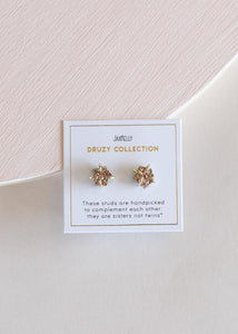 Rose Gold Druzy Prong Studs