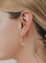 Load image into Gallery viewer, Rose Quartz Drop Earring