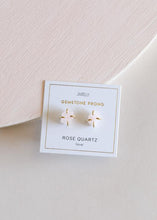 Load image into Gallery viewer, Rose Quartz Prong Studs