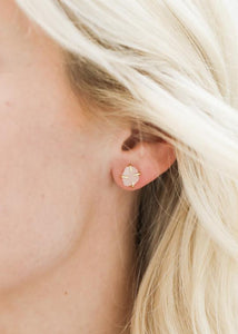 Rose Quartz Prong Studs