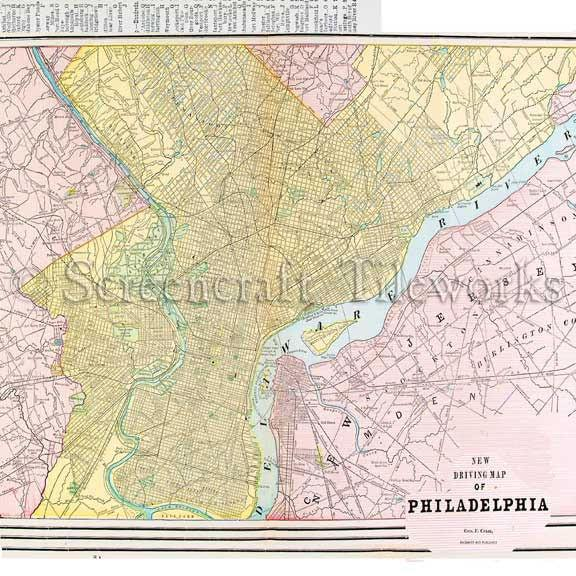 Marble 'New Driving Map of Philadelphia' Coasters by screencraft at local housewares store Division IV in Philadelphia, Pennsylvania