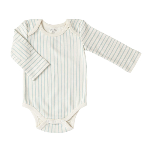 Sea Stripes Long Sleeve Onesie