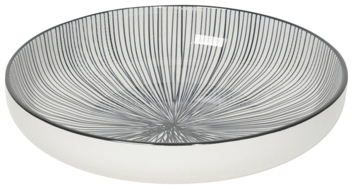 Etched Lines Stamped Shallow Bowl