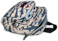 Load image into Gallery viewer, Shark Canvas Kids Backpack