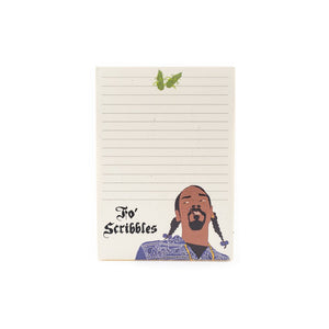 Fo Scribbles Snoop Dog Notepad
