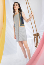 Load image into Gallery viewer, Contrasting Striped & Embroidered Dress