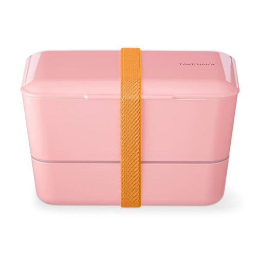 Pink Expanded Double Bento Box