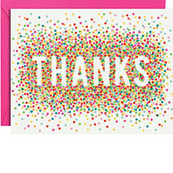Colorful Confetti Thank You Boxed Cards