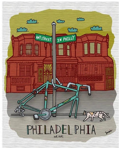 Any Street In Philly Bike Print