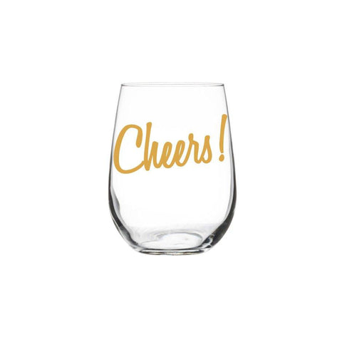Cheers! Stemless Wine Glass by Vital Industries at local housewares store Division IV in Philadelphia, Pennsylvania