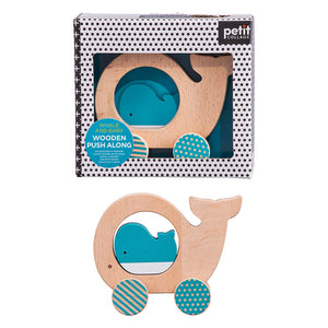 Whale Wooden Push Along