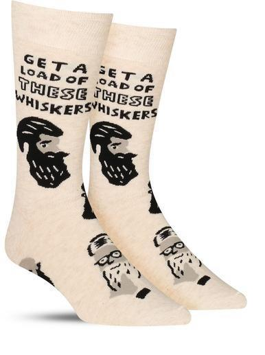 Get a Load of these Whiskers Crew Socks