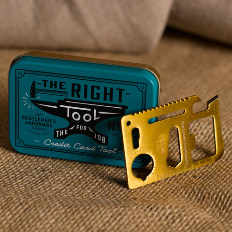 The Right Tool, Credit Card Tool by Wild and wolf at local Fairmount shop Ali's Wagon in Philadelphia, Pennsylvania
