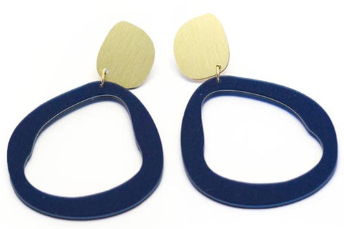 Fluid Drop Statement Earrings