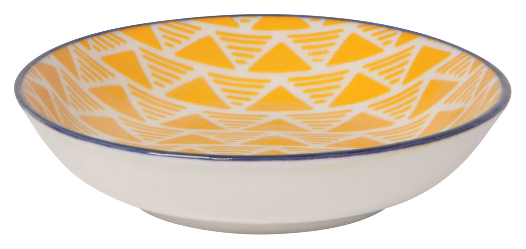 Yellow Triangles Dip Bowl