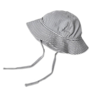 Black Candy Stripe Sun Hat