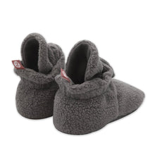 Load image into Gallery viewer, Grey Cozie Fleece Gripper Booties