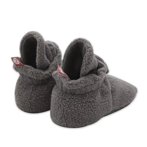 Grey Cozie Fleece Gripper Booties