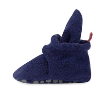 Load image into Gallery viewer, True Navy Cozie Fleece Gripper Bootie