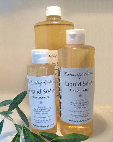 S. Castile Liquid Soap - made from Organic Olive Oil