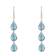 Natural Blue Topaz Drop Earrings - Joy of London Jewels