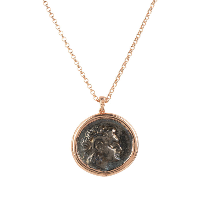 SALE  Handmade 22CT Rose Gold Caesar Roman Coin Pendant Necklace - Joy of London Jewels