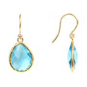 Petite Drop Earring Blue Topaz Hydro Gold - Joy of London Jewels
