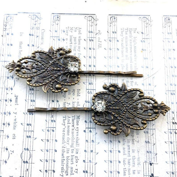SALE  Howard's End Filigree Hair Pins - Joy of London Jewels