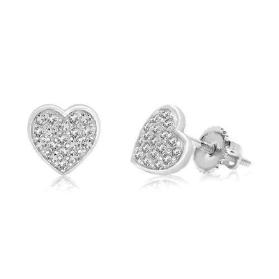 Swavorski Classic Heart Screwback Earrings