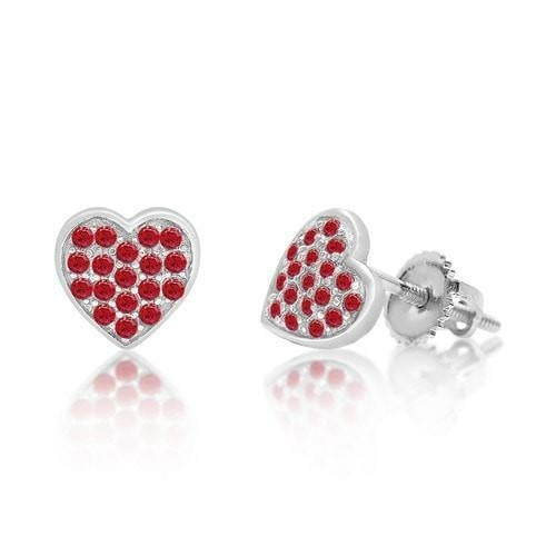 Swavorski Classic Heart Screwback Earrings - Joy of London Jewels