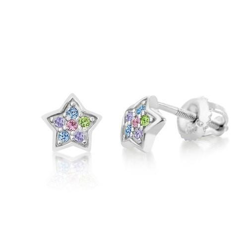 Swavorski Crystal Star Screwback Earrings