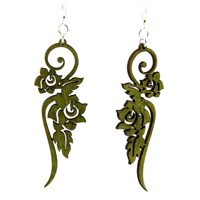 Climbing Rose Earrings - Joy of London Jewels