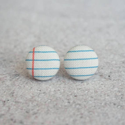 Notebook Fabric Button Studs - Joy of London Jewels