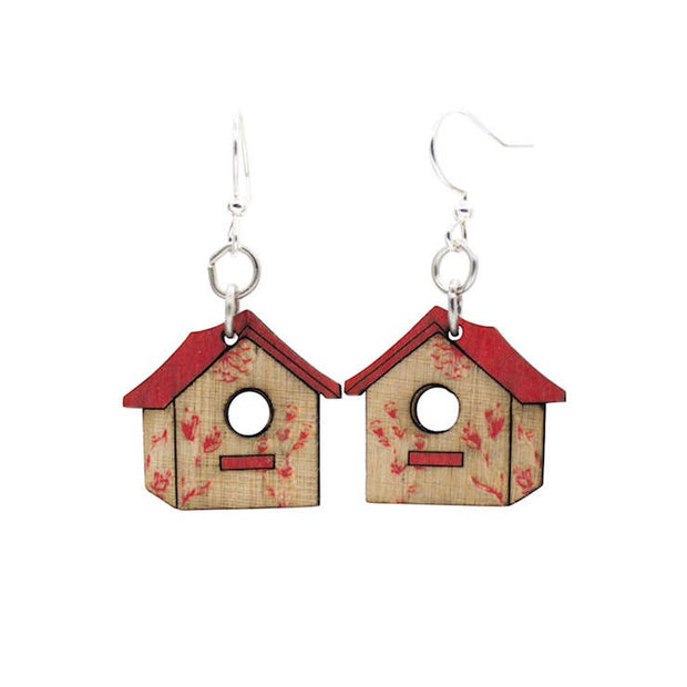 Red Bird House Earrings - Joy of London Jewels