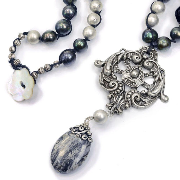 Handmade Natural Pearl Baroque Style Necklace - Wedding Necklace - Birthday Gift