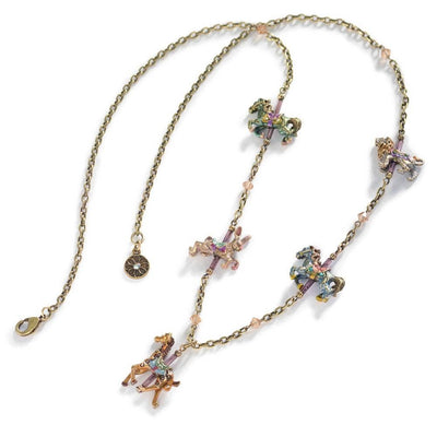 Swarovski Sparkle Southampton Carousel Animal Necklace - Joy of London Jewels