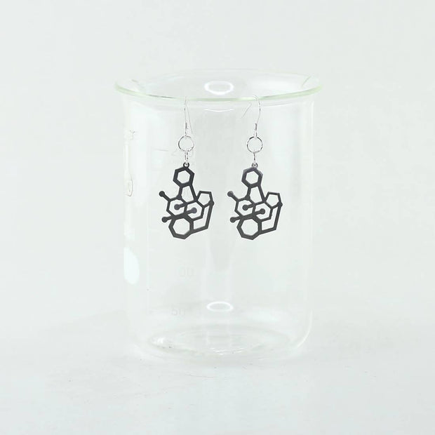 Handmade Tetrodotoxin Molecule Earrings