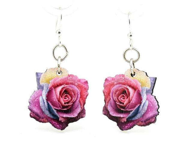 Multi-Color Rose Blossom Earrings - Joy of London Jewels