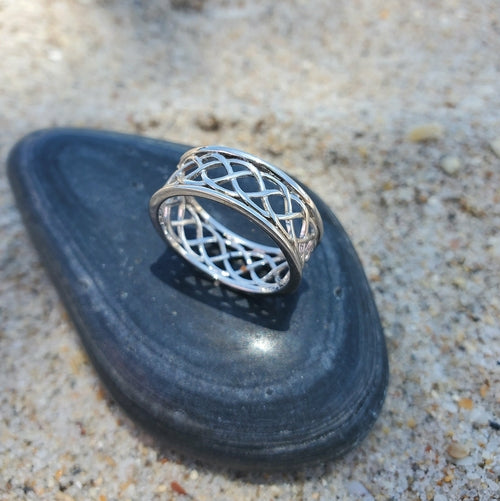 Braided Celtic Sterling Silver Ring - Joy of London Jewels