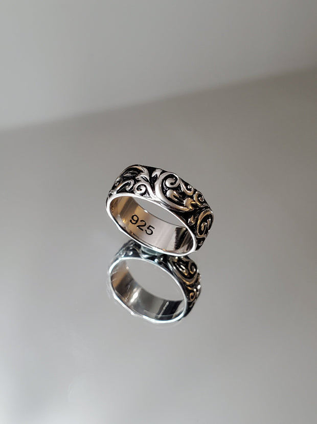 Floral Bali Sterling Silver Ring - Joy of London Jewels