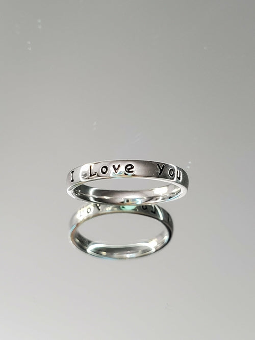 I Love You ~ Engraved Ring