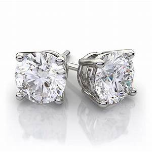 SALE  2TCW Round Brilliant Cut Belgium Lab Stud Earrings - Joy of London Jewels