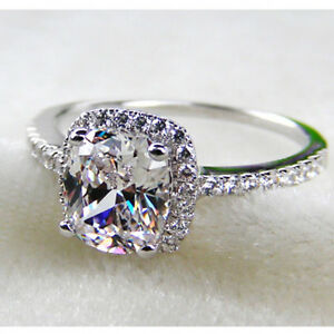 A Flawless 3CT Cushion Cut Halo Belgium Lab Diamond Engagement Ring